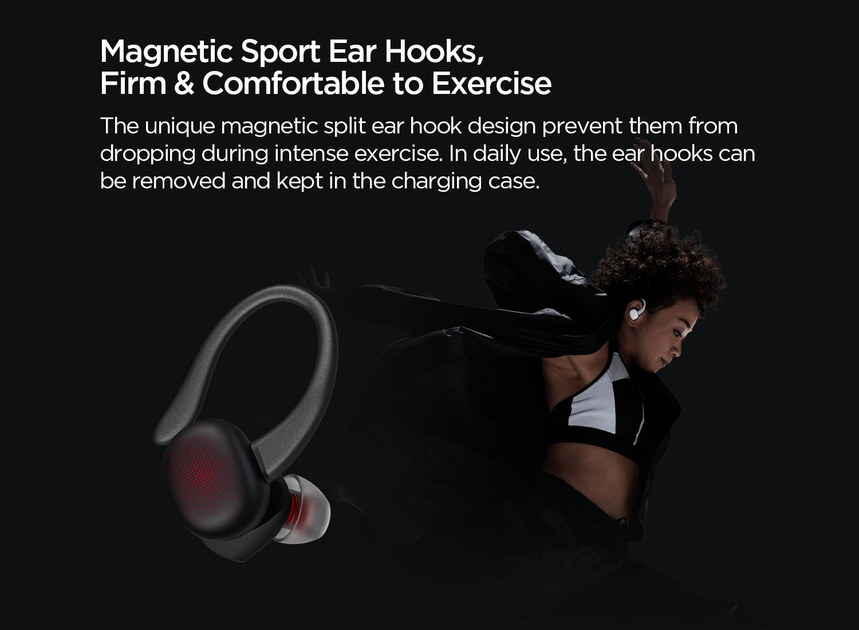 Magnetic sport ear hooks