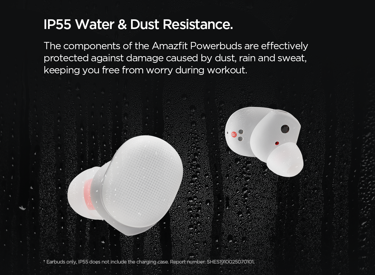 Water and dust resistance