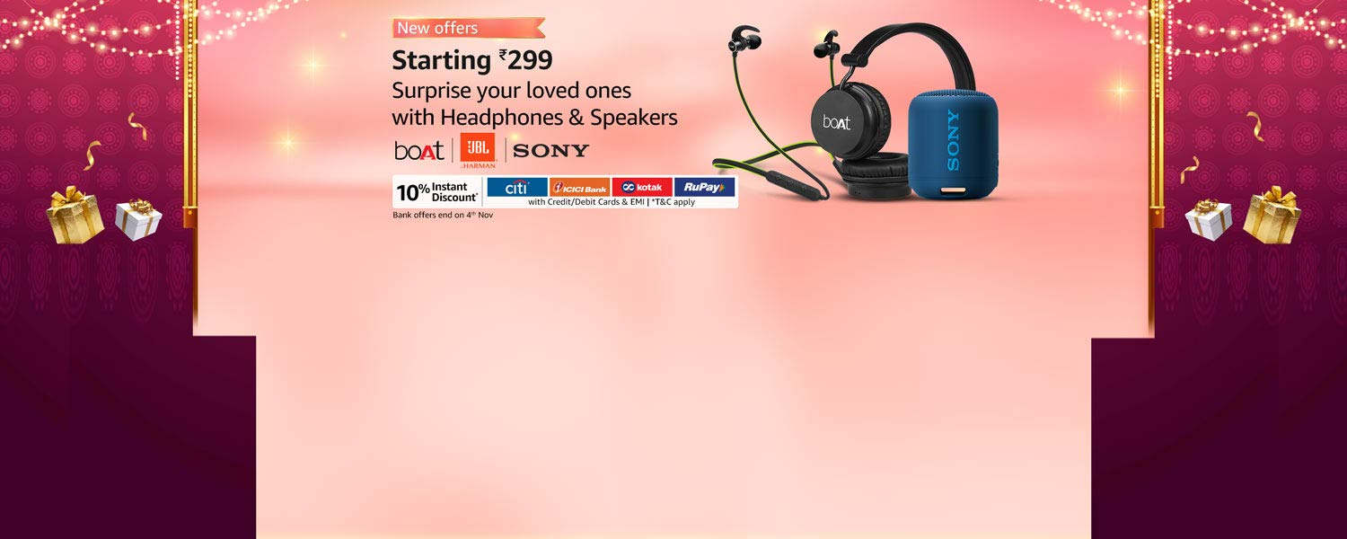 Amazon Offers Today-Coupons-Promo Codes - Headphones and Speakers starting at just ₹299