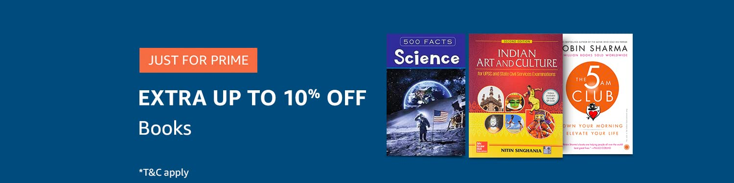 Extra Up to 10% off on Books