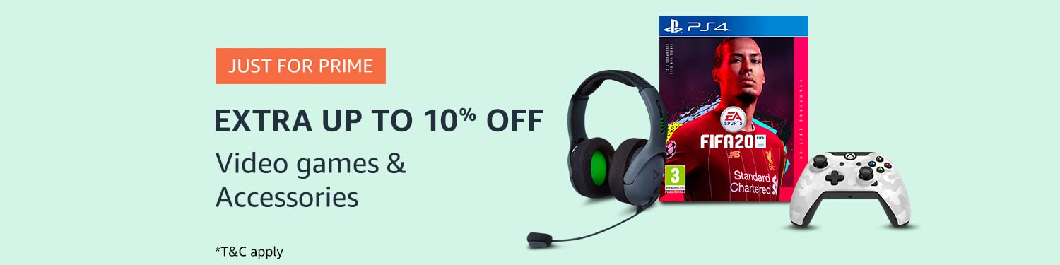 Extra Up to 10% off on Video Games
