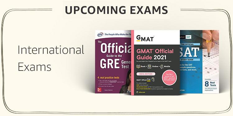 International exams (GMAT, GRE, IELTS,TOEFL)