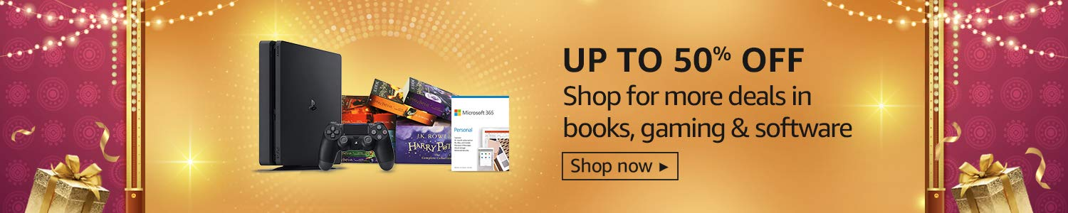 Up to 50% off | Deals on Books, gaming & more