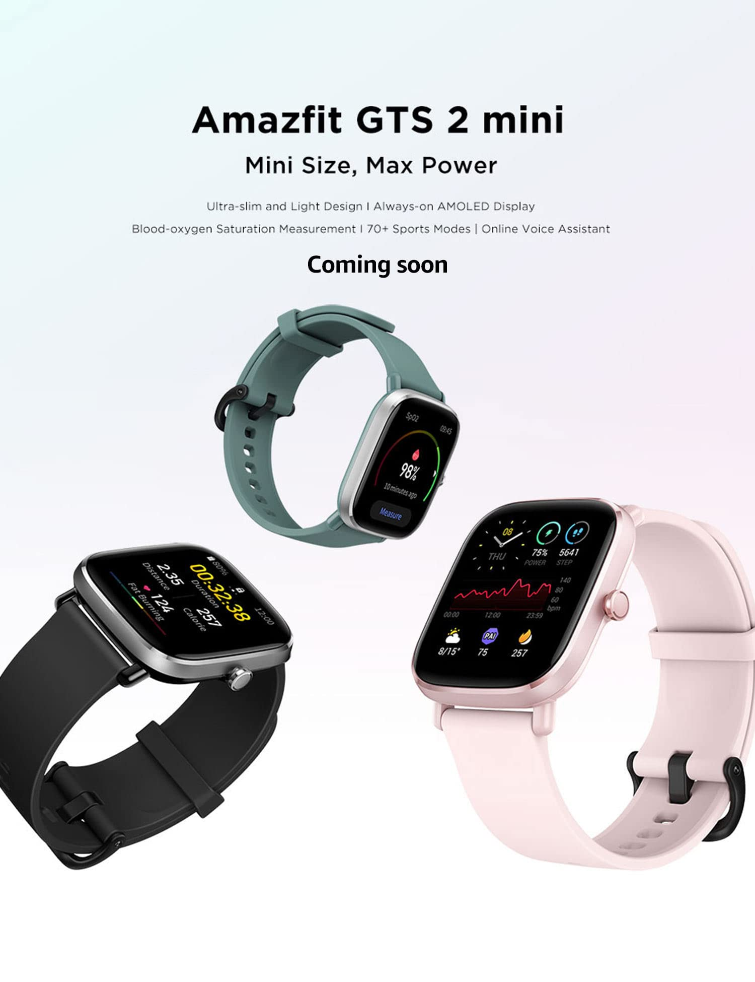 Amazfit GTS 2 Mini Best Features, Price, Specs Launching Soon