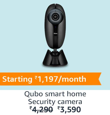 Qubo Smart Home Security Camera | Amazon Specials(Top Right)