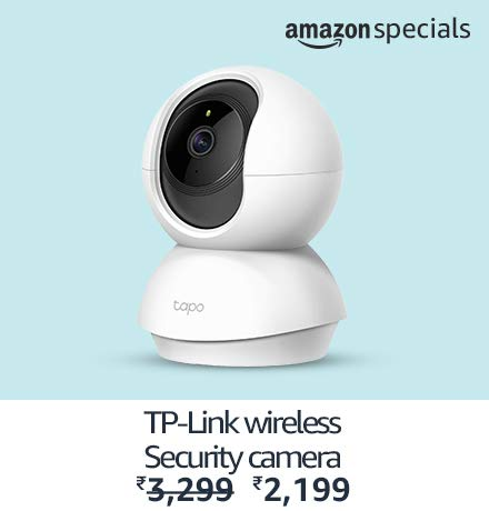 TP-Link smart wireless indoor security camera | Amazon Specials(Top Right)