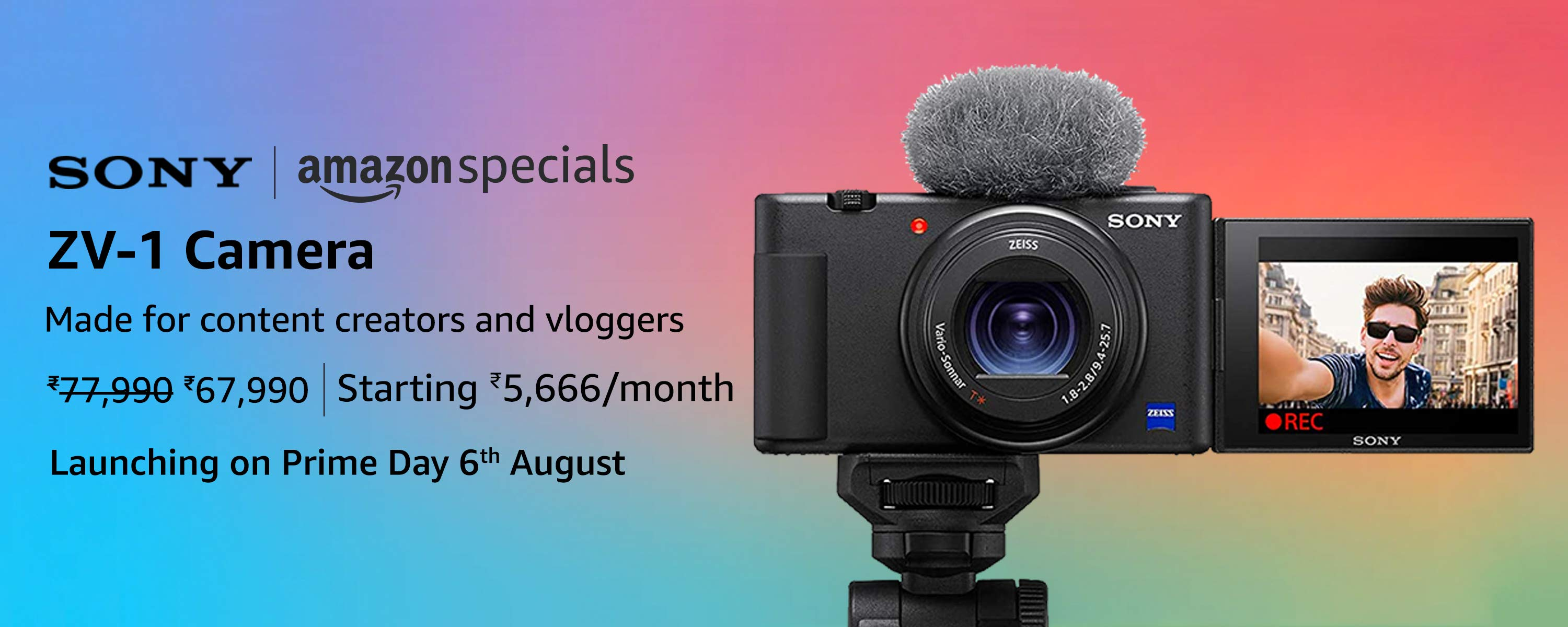 Sony ZV-1 Camera with heavy discount on Amazon Prime Day Sale 2020