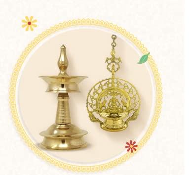 Lamps,diyas &pooja essentials
