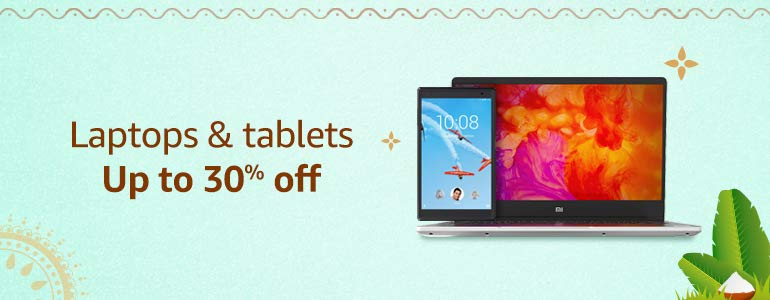 Laptops & tablets Up to 30% off