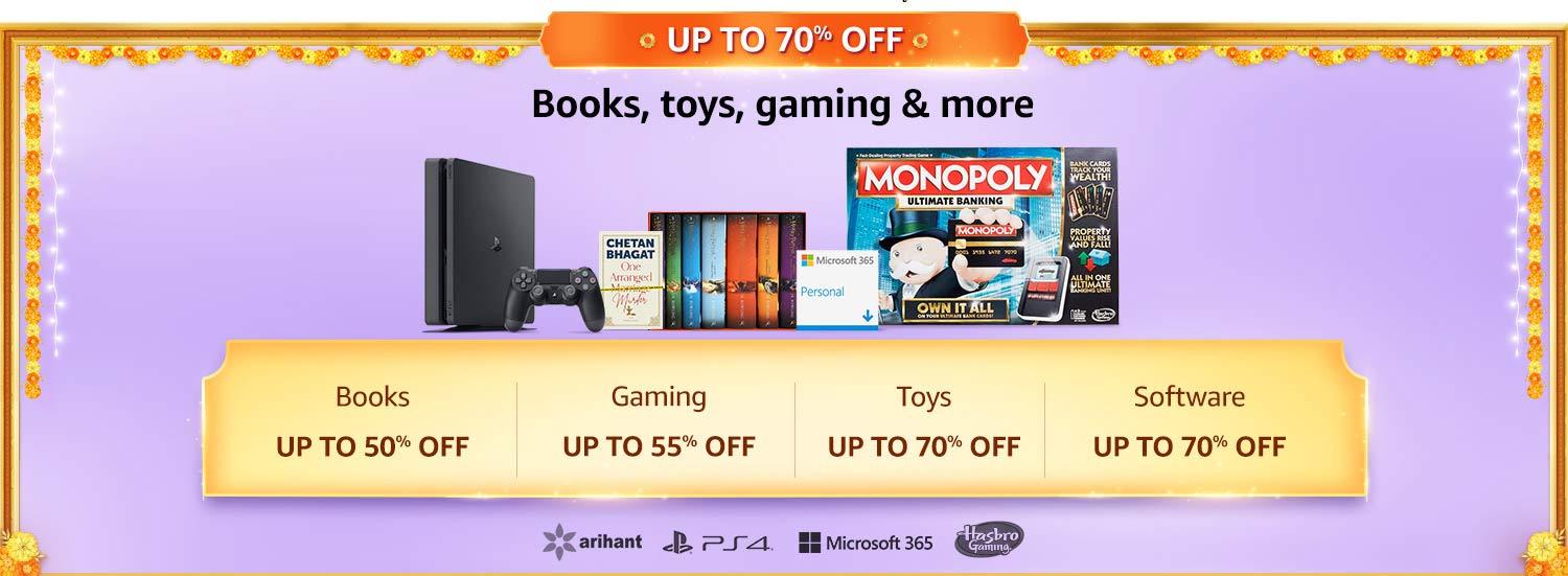Books, Toys, Gaming & more