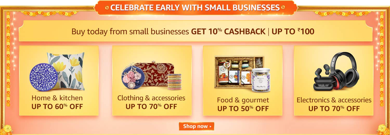 Celebrate early with small businesses