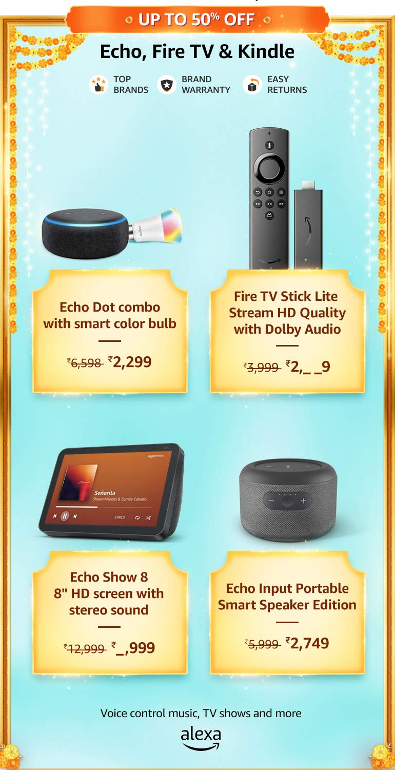 Echo, Fire TV & Kindle Offers & Deals Amazon India