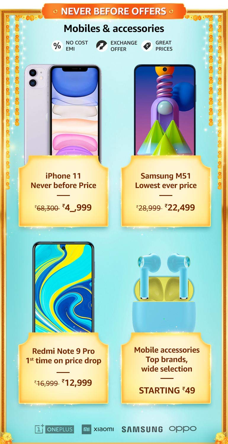 Mobile and Accessories Offers & Deals Amazon India