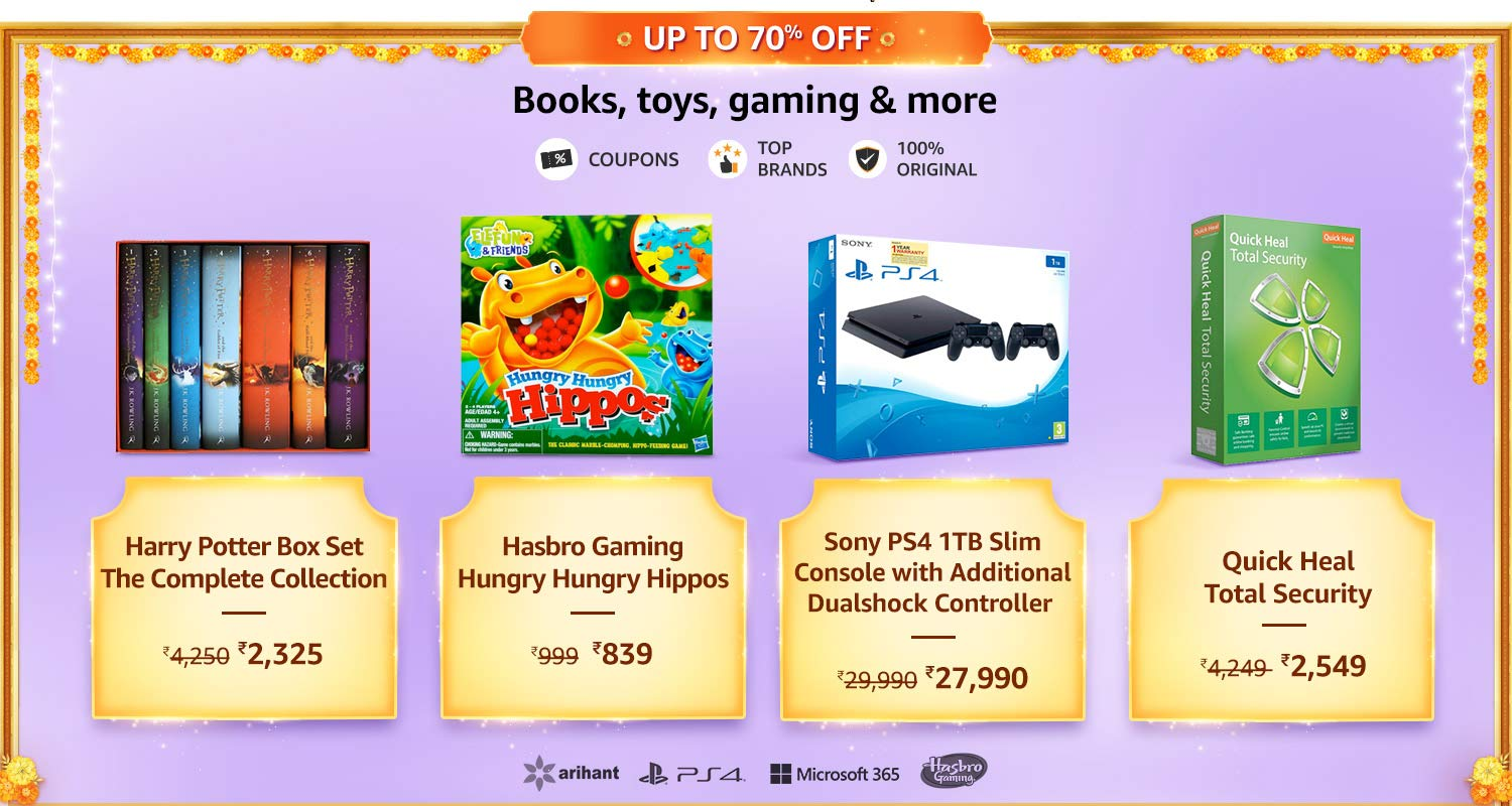 Books, Toys, Gaming Offers & Deals Amazon India