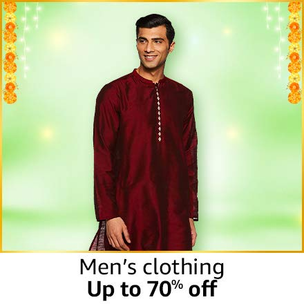 Men's clothing Up to 70% off