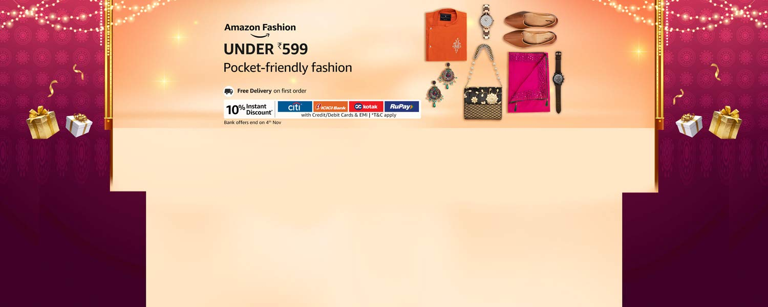 Amazon Offers Today-Coupons-Promo Codes - fashion under ₹599