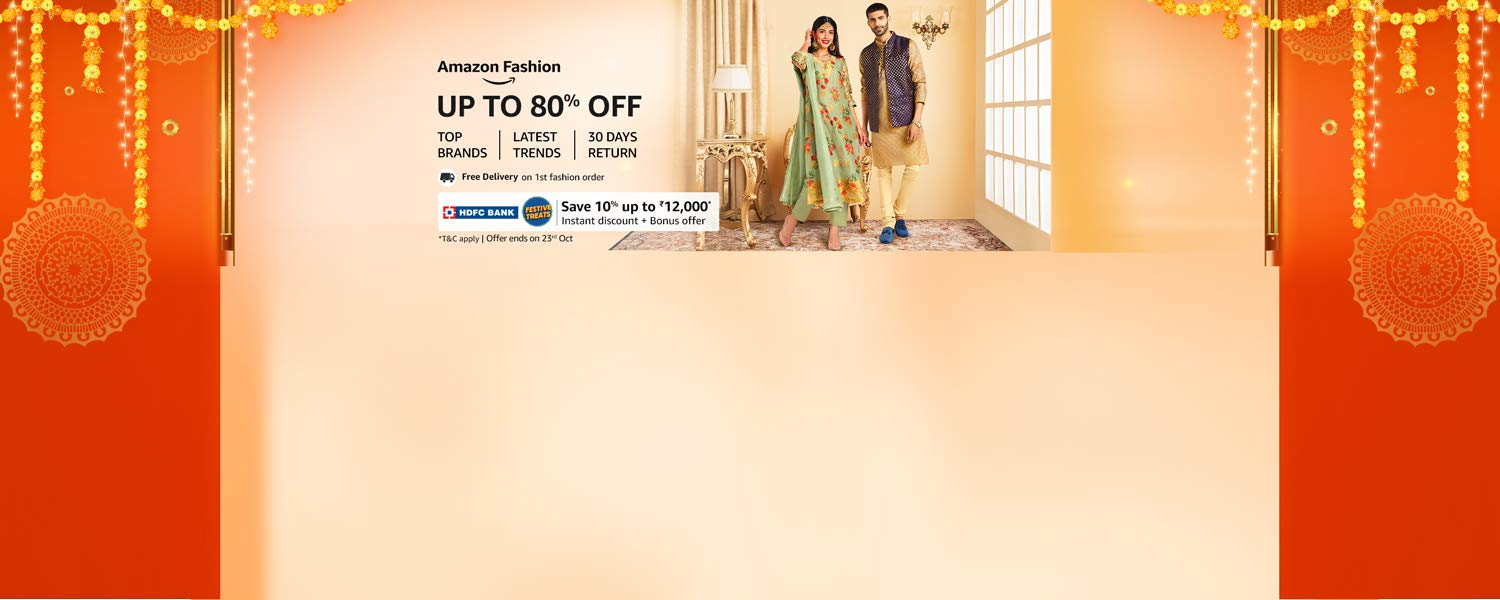 Amazon Latest Offers & Discount Codes - Up To 80% OFF on Fashion Collection