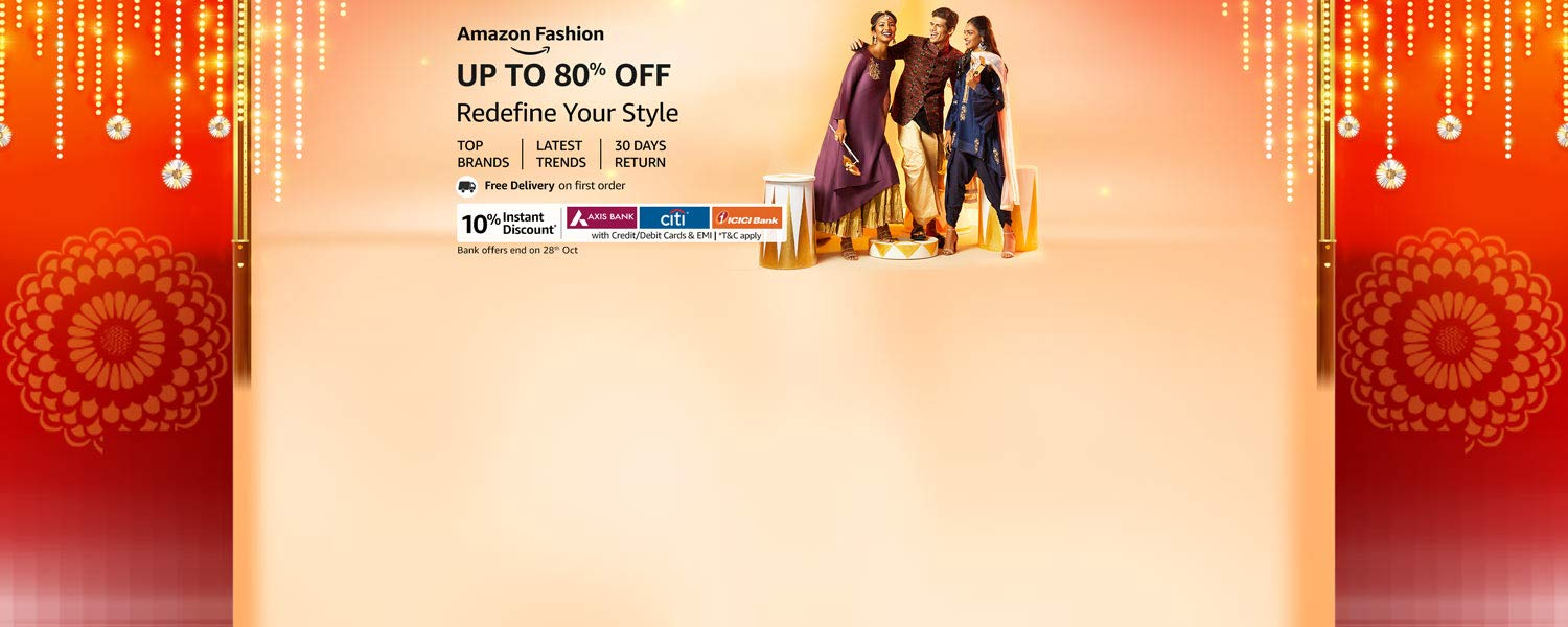 amazon.in - Get Upto 80% Off on Fashion Collection
