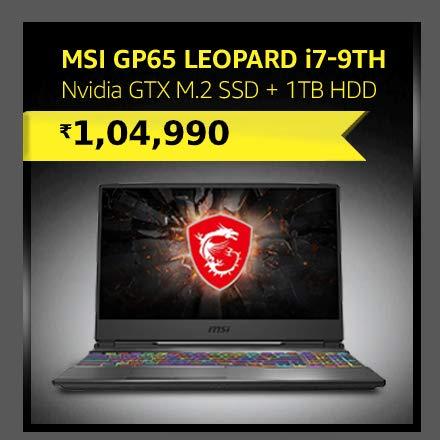 MSI GP65 Leopard i7-9th|Nvidia GTX 1660 ti|NVMe M.2 SSD + 1TB HDD