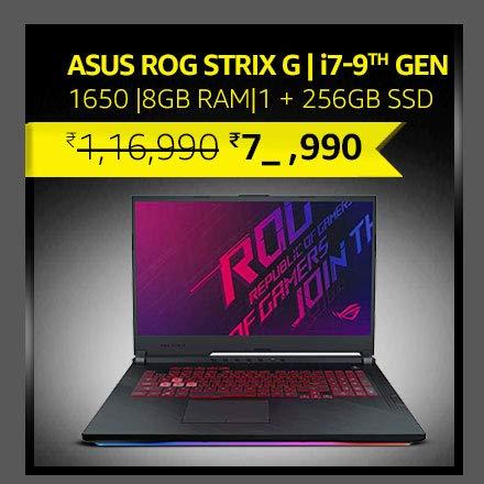 "ASUS ROG Strix G 17.3""  i7-9th Gen|1650 Gfx|8GB RAM|1 + 256GB PCIe SSD"