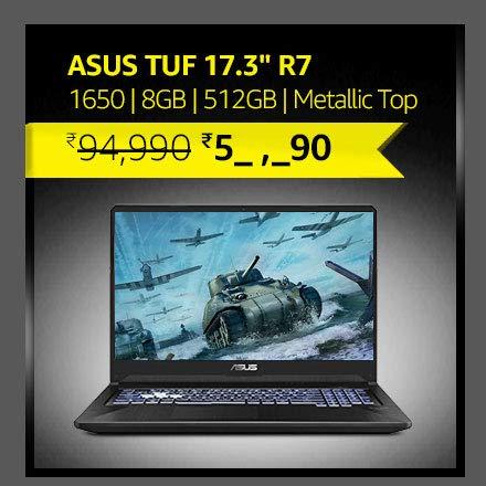 "ASUS TUF 17.3"" R7|1650 Gfx|8GB|512GB NVMe SSD| Metallic Top"