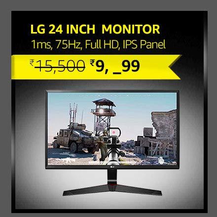 LG 24 inch Gaming Monitor - 1ms, 75Hz,Full HD, IPS Panel