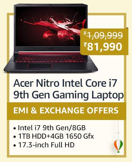 Acer Nitro Intel Core i7 9th Gen Gaming Laptop