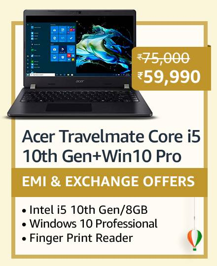 Acer Travelmate Core i5 10th Gen+Win10 Pro