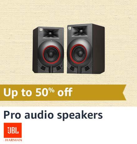 JBL Pro Audio speakers
