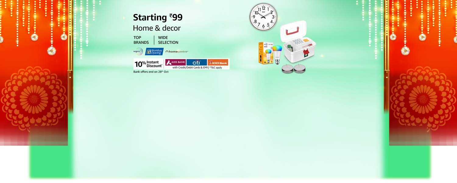 Amazon Latest Offers & Discount Codes - Home and Decor starting at just ₹99