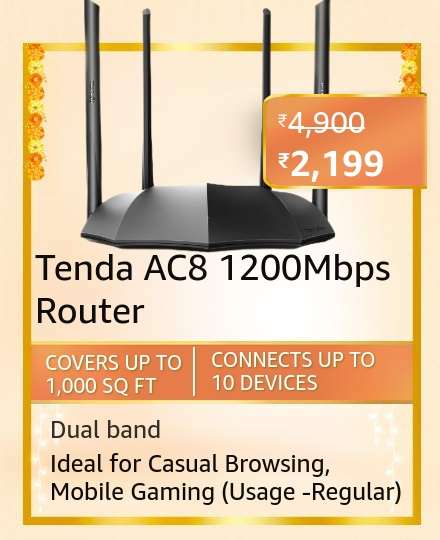 Tenda AC8 1200Mbps  Dual-Band  Router