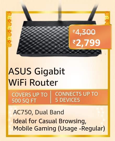 ASUS AC750 Dual Band Gigabit WiFi Router