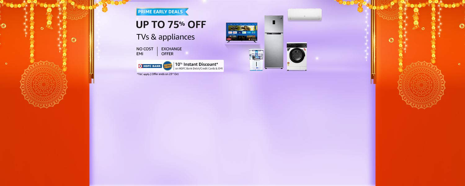 amazon.in - Avail Upto 75% discount on Home Appliances