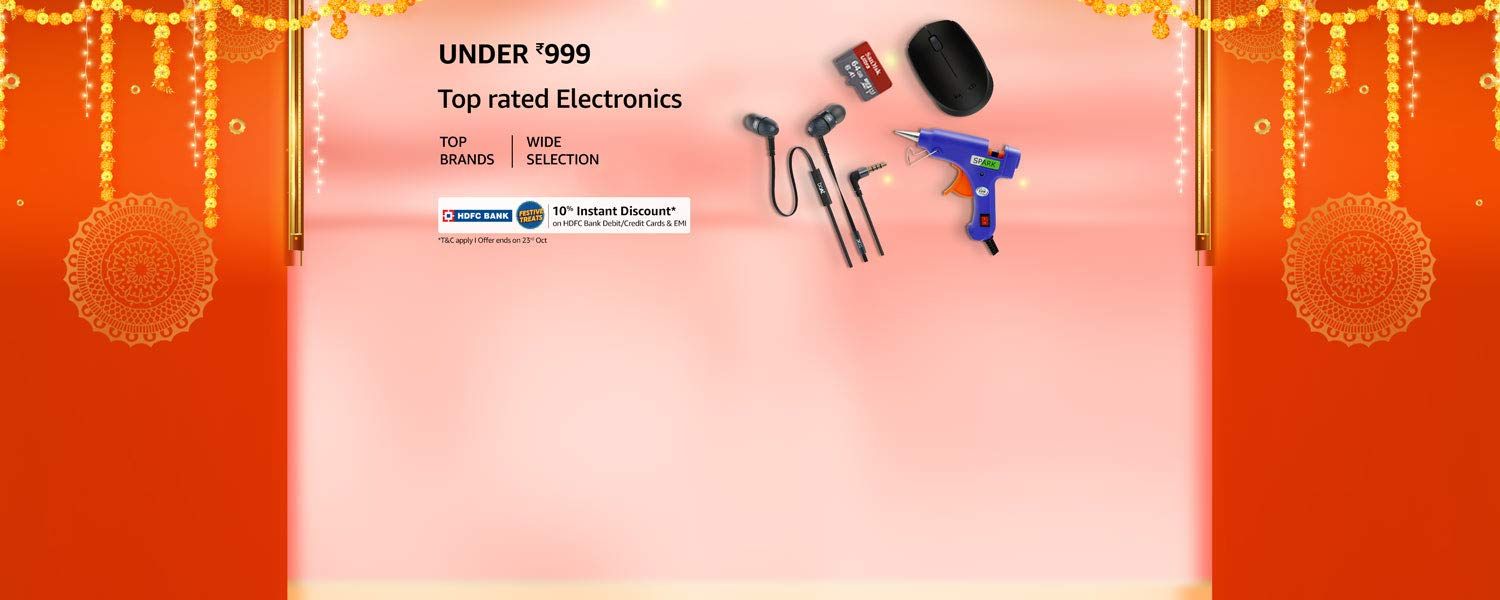 Amazon Latest Offers & Discount Codes - Electronics under ₹999