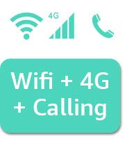 Wi-Fi + 4G +Calling