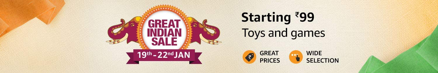 GREAT INDIA SALE | Upto 60% Off On Toys & Games