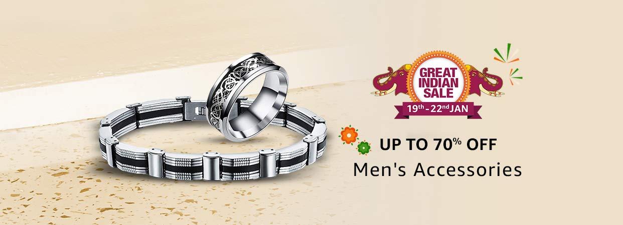 Upto 70% Off on Men's Accessories
