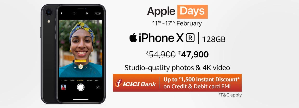 Up to Rs.1500 Instant Discount on ICICI Bank Debit & Credit Card EMI | Apple Days