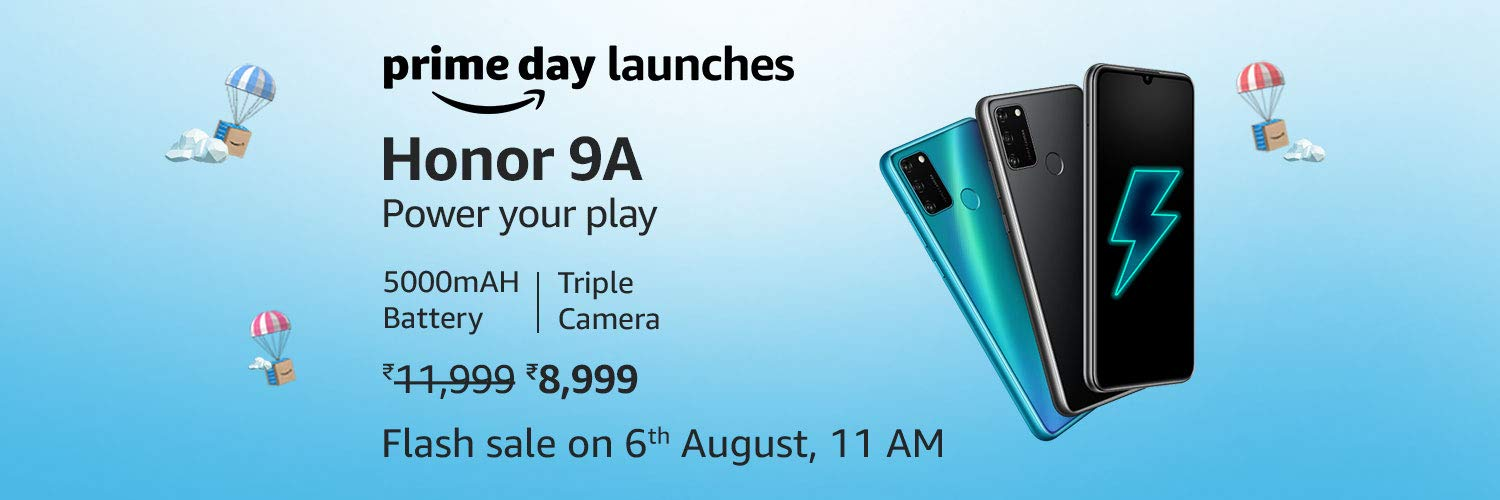 Honor 9A Exclusive Prime Day Sale 2020 Launch