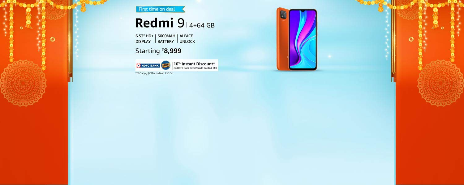 amazon.in - Redmi 9 Smart Phone @ just ₹8999