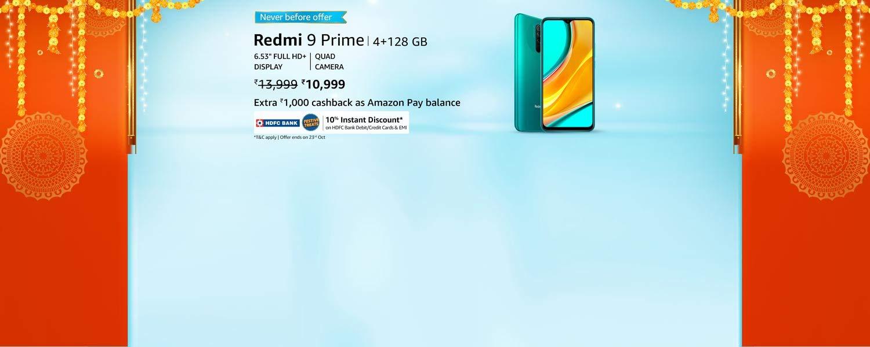 amazon.in - Redmi 9 Prime Smart Phone @ just ₹10999