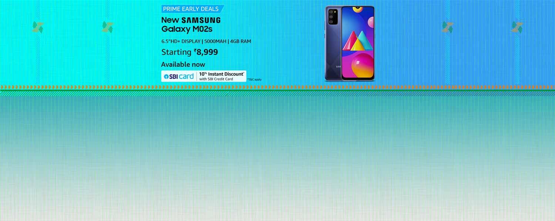 amazon.in - Samsung Galaxy M02s @ just ₹8999