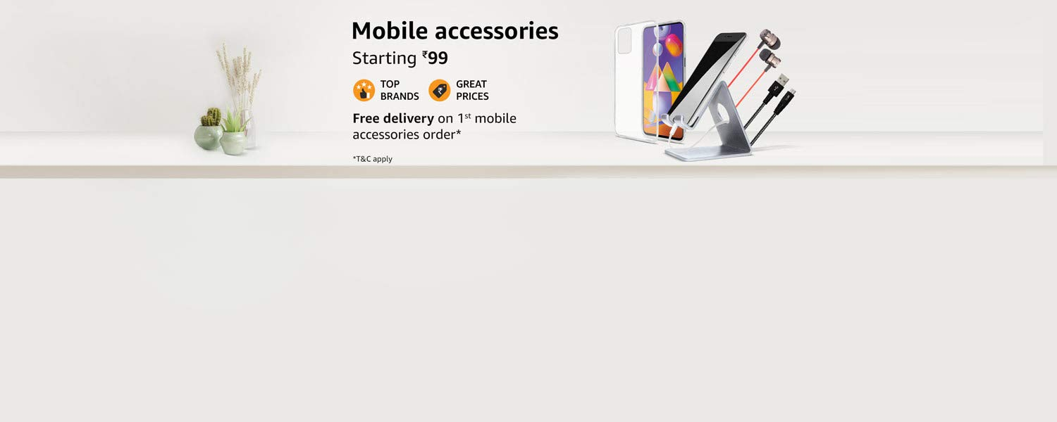 Amazon Offers Today-Coupons-Promo Codes - Mobile Accessories starting at just ₹99