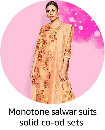monotone salwar suits