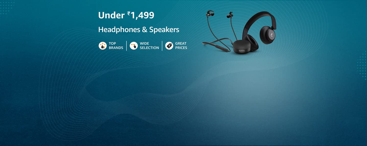 Amazon Offers Today-Coupons-Promo Codes - Headphones and Speakers under ₹1499