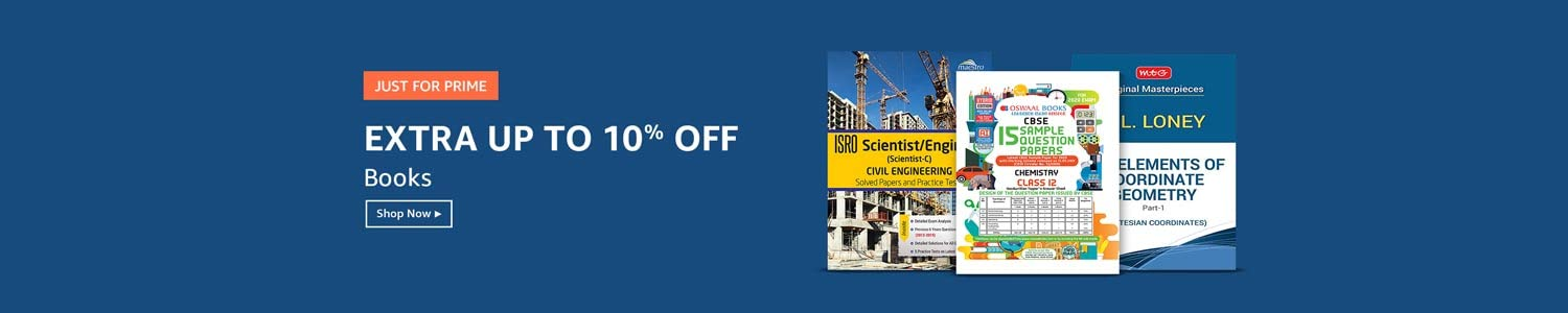 Extra up to 10% off | Books