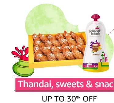 Thandai, sweets & snacks