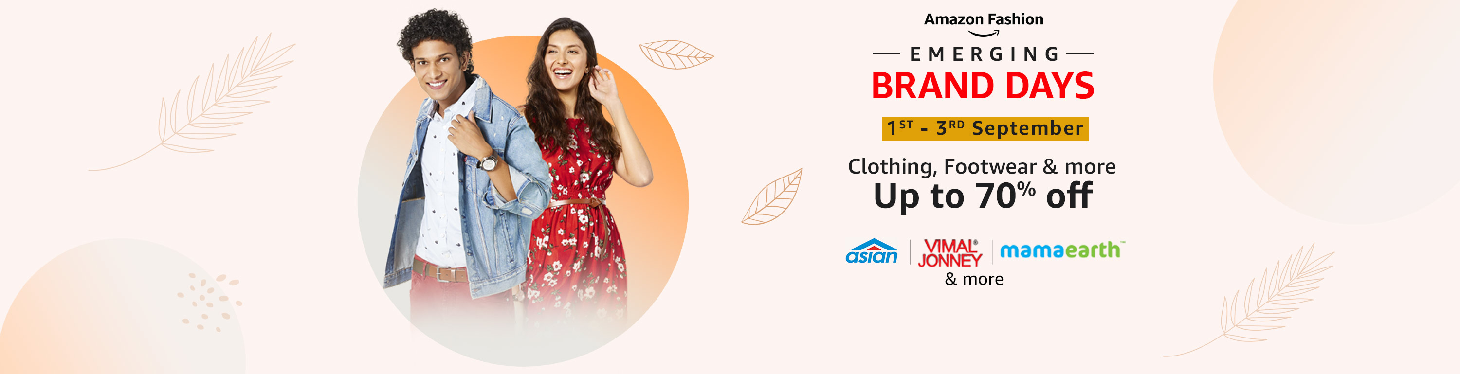 Emerging Brand Days - Up to 70% Offer on Clothing, Footwear & more