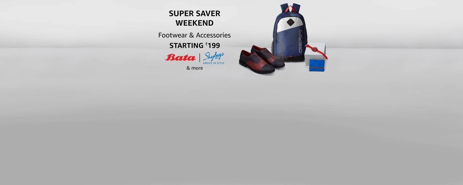 amazon.in - Footwear and Accessories starting at just ₹199