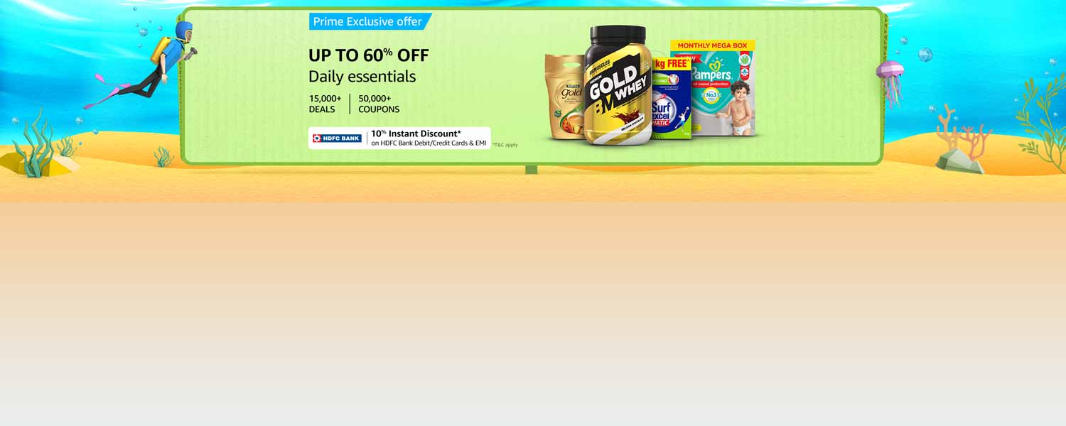 Amazon Offers Today-Coupons-Promo Codes - Avail Up to 60% Discount on Daily Essentials